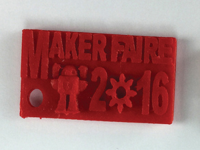 Souvenir Pendant for Maker Faire - UMO extruder