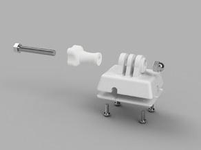 GoPro bracket for DJI type remote controller