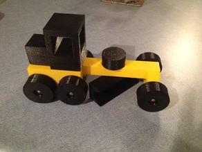Toy Road Grader - Fully 3D Printed