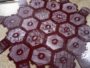 Acrylic lasrecut catan