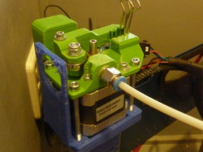 Bowden Extruder für Makerslide Profil, Modular, Hadron Ordbot Printer, 1,75 mm, einfach zu drucken; easy to print