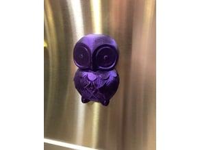 Owl Refrigerator Magnet