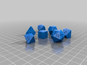 Polyhedral Dice Set for DnD