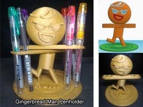 Gingerbread Man Penholder v2 (薑餅人筆架)