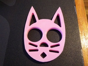 Cat Keychain (No Ear Grooves)