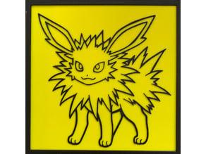 Jolteon Pokemon Plate