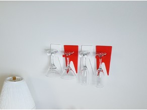Cocktail Glass Wall Mounts