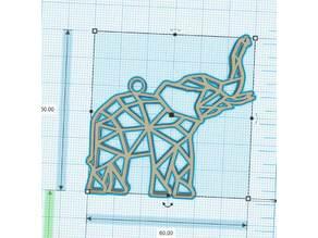 Geometric Elephant - Elephant Géométrique