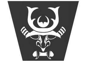 Samurai Mask Stencil