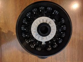 Dials with Debossed Numbers for Curta Calculator Type I scaled at 3:1