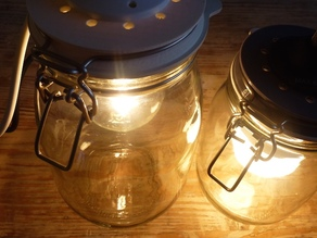 Mason Jar Lamp Lid