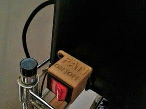 Rocker Switch Housing For PLA Cooling Fan Retrofit (PowerSpec, CTC, Wanhao Duplicator, FlashForge, Makerbot)
