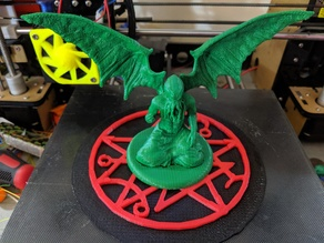 Gate seal base for Cthulhu tabletop miniature.