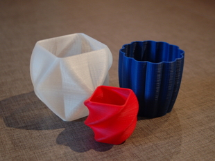 Rounded Square Vase, Cup, and Bracelet Generator