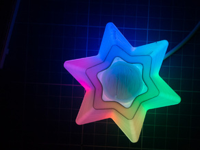 Christmas Decoration - Star with color LED Strip