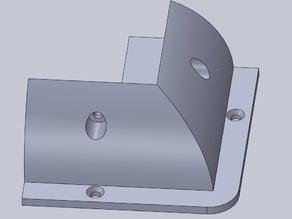 Solar panel bracket for RV roof