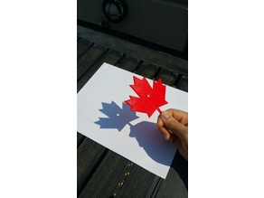 Canada Maple Leaf Pinhole Projector