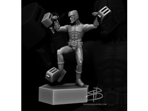 Man Fighting Toasters Statue