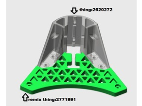 remix Anycubic Kossel Linear Plus Cover with room for reinforcement
