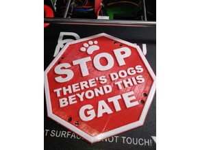 stop dogs sign