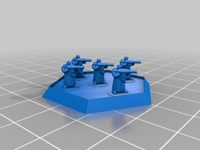 6mm Scale Generic Humanoid Infantry in Great Coat onHexbase
