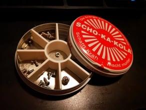 Scho-Ka-Kola Tin Can Divider