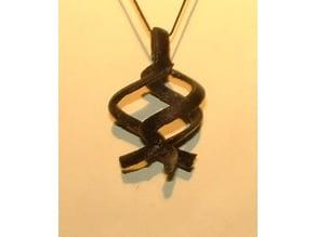Triple Twisty Pendant