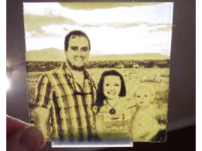 Three Color Lithopane