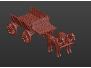 Horse-Pulled Wagon