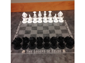 Ocarina of Time Zelda Chess Set