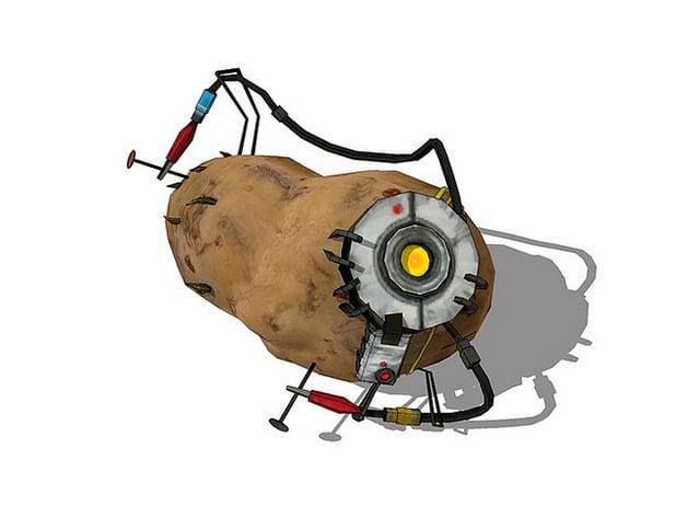 Potatos Potato Glados From Portal 2 By Calcaware