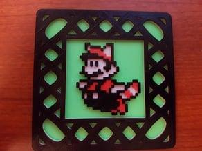 Remix - SMB3 Raccoon Mario 8-bit coaster