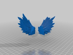 low poly angle wings