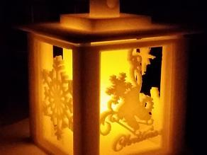 Holiday Lantern with Swappable Panels