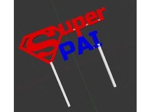 Super Pai, Topper para Dia do Pai