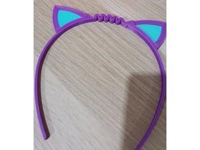 diadema gato flexible con orejas en otro color