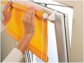 Mount Roman blinds for plastic Windows