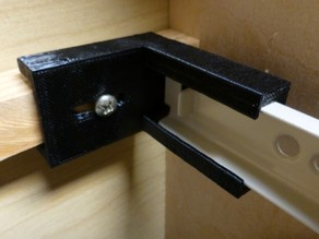 Cabinet door slide holder (parametric)