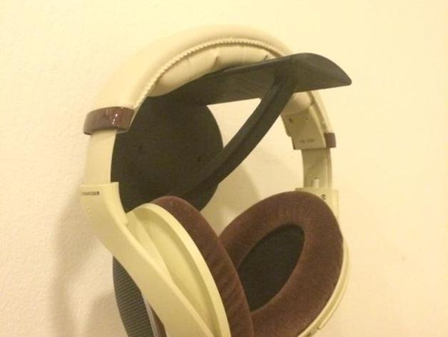 Wall Mounted Headphone Holder By Dat Techie Stew Thingiverse
