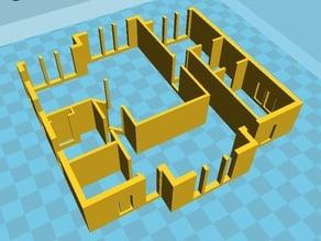 28.Labels 3D printing Oldenburg architecture models Furnished house