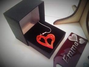 Filigree heart earrings / necklace