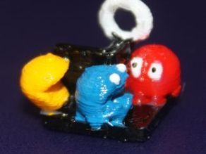 DailyEarring62: Pac Man diorama (Version A and B)