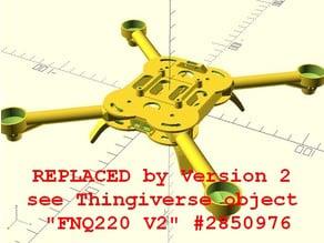 Foldable Nano Quadcopter FNQ220 (parametric OpenSCAD)