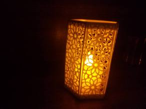 Candle enclosure with Islamic Pattern