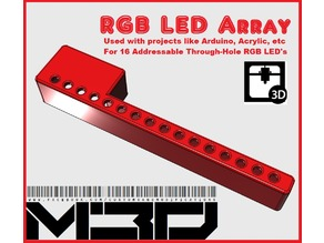 16-Hole 5mm RGB LED Array Base (For Arduino, NeoPixel, etc)