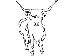 Highland Cow wall art