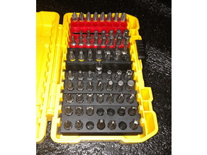 Upright Hex Bit Holders for Dewalt Case
