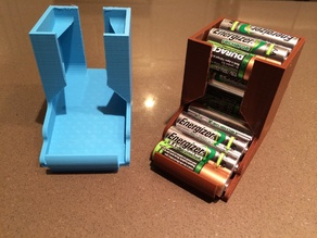 Compact Tabletop Battery Holder