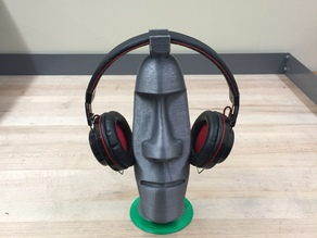 Moai Statue Headphones Rack