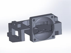 Makerfarm Magma Hotend Fan Duct w/ Auto-Bed Leveling Servo Mount and LED's